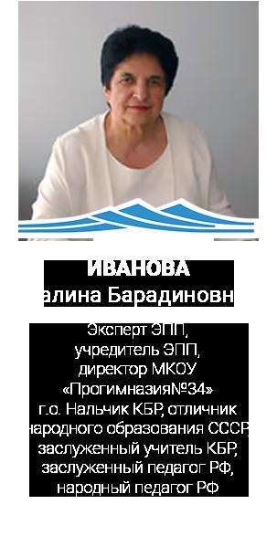 ИВАНОВА Галина Барадиновна